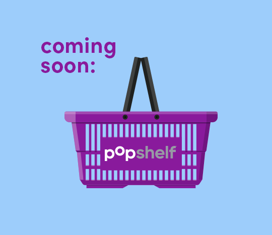 pOpshelf shopping basket with text saying coming soon