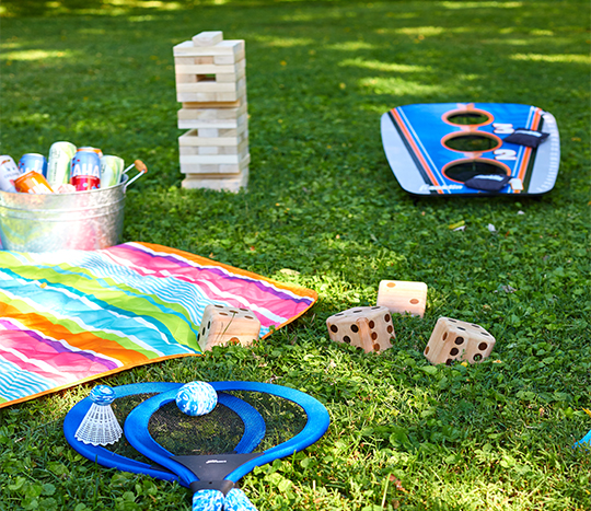 outdoor party, games