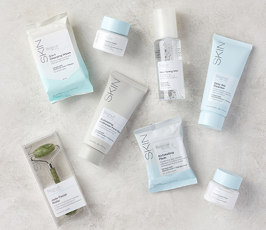 Image of variety of skincare products