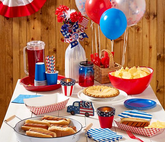 patriotic housewares and party essentials