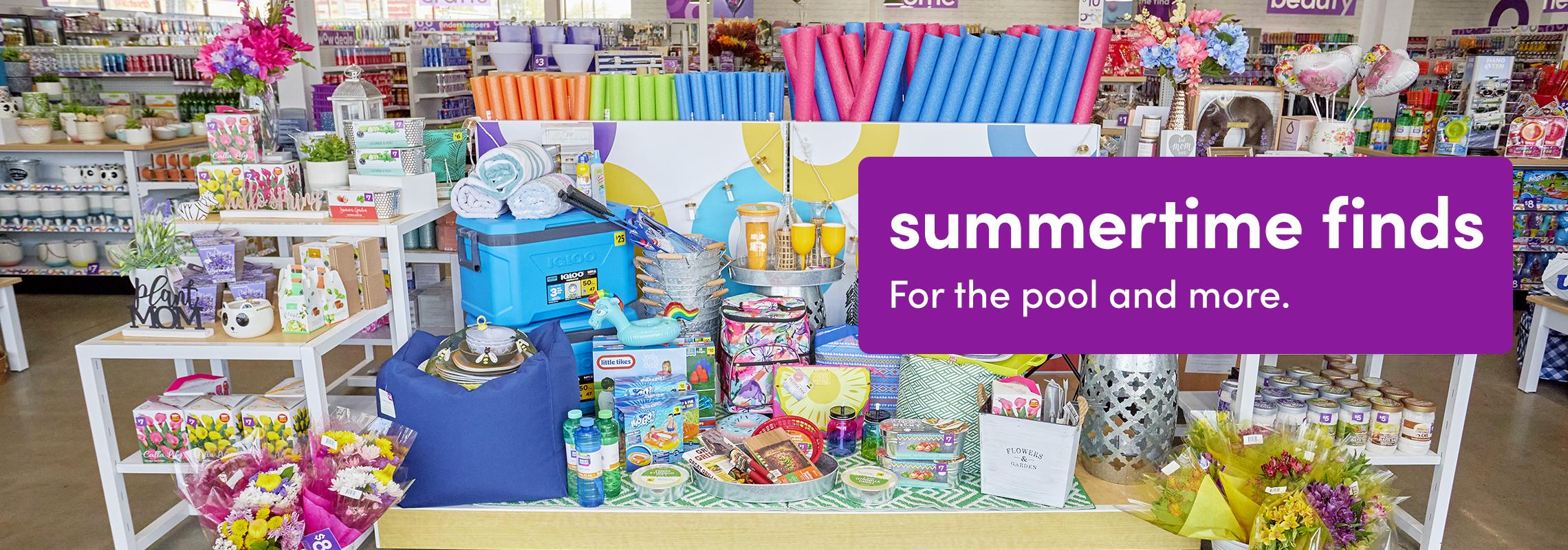 popshelf store summertime finds