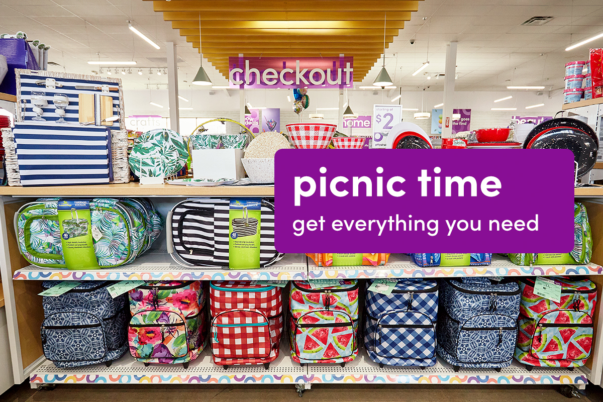 Picnic items in store