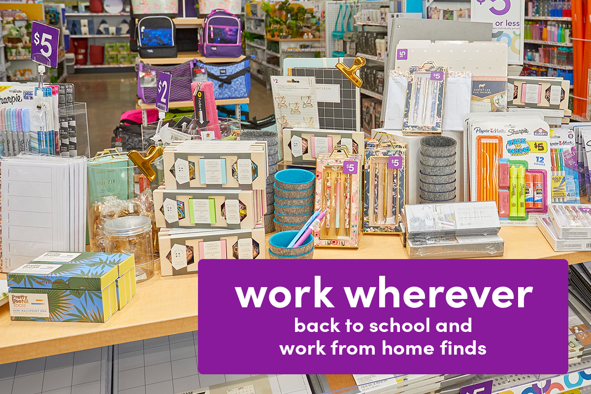popshelf back to school, work from home and dorm items.