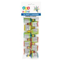 Party Poppers, 10 Count