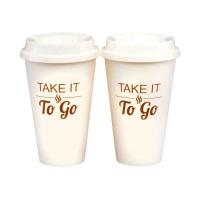 To-Go Coffee Travel Mugs, Set of 2