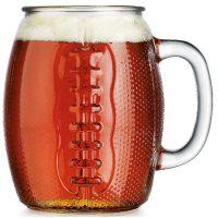 Glass Football Mug, 37 oz.