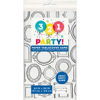 """Adult Party Game Paper Table Covers, 54"""" x 84"""""""