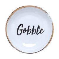 """Gobble"" Porcelain Serving Bowl, 8inch"