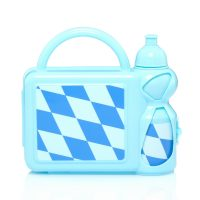 Kids' Lunch Box With Handle and Water Bottle Combo Set