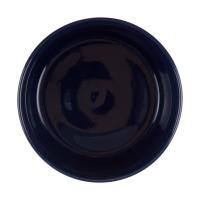 Navy Rim Stoneware Bowl