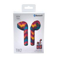 GenTek Zig-Zag Bluetooth TW2 Earbuds with Case
