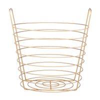 Round Gold Metal Storage Basket, Small