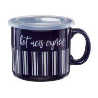 Hot Mess Ceramic Soup Mug with Handle