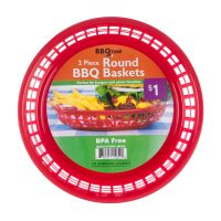 BBQ Time Round Barbecue Baskets, 2 Count