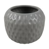 Gray Hammered Ceramic Decorative Vase