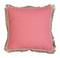 Décor Society Decorative Throw Pillow, Spiced Coral, 18 x 18 in.