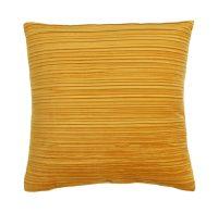 Décor Society Pleated Velvet Decorative Throw Pillow, Mustard, 18 x 18 in.