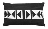Décor Society Decorative Throw Pillow, Black and White, 12 x 20 in.