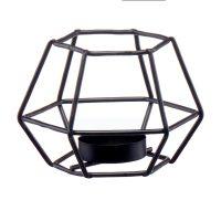 Geometric Angular Black Metal Candle Holder