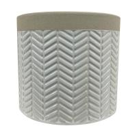Herringbone Style Planter Pot