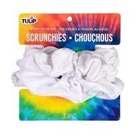 Tulip Cotton Scrunchies White, 3 Pack