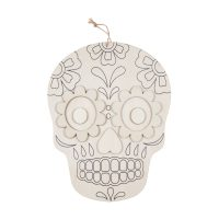 DIY Day of the Dead Hanging Plaque