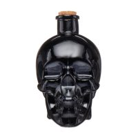 Decorative Skull Shaped Glass Jar with Stopper
