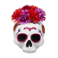 Day of the Dead Floral Sugar Skull Décor