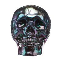 Iridescent Oil Slick Skull Halloween Décor