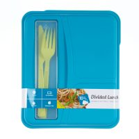 Divided Lunch Box Container Kit, Set of 2