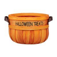 Halloween Wooden Pumpkin Candy Basket, 10 in.