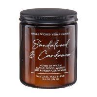Sandalwood & Cardamom Single Wick Candle, 6.5 oz.