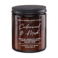 Cedarwood & Musk Single Wick Candle, 6.5 oz.