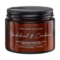 Sandalwood & Cardamom Single Wick Candle, 14 oz.