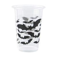 16-oz. Black Bats Halloween Plastic Cups, 8 Count