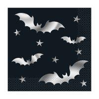 Silver Bats Halloween Luncheon Napkins, 20 Count