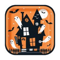 9-in. Happy Haunting Halloween Party Plates, 8 Count