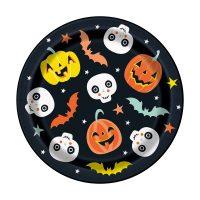 7-in. Pastel Pumpkin Halloween Party Plates, 8 Count