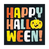 Pastel Pumpkin Halloween Luncheon Napkins, 16 Count