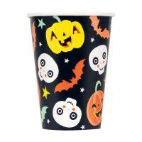 12-oz. Pastel Pumpkin Halloween Paper Cups, 6 Count